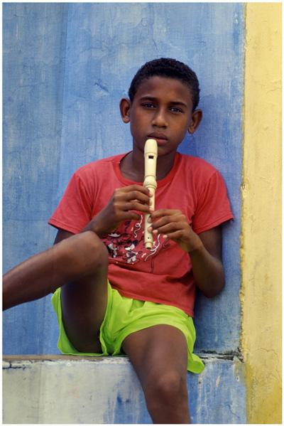 Antonio mit der Flöte